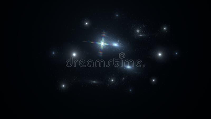 Planeter och galax Sciencetapet royaltyfri foto