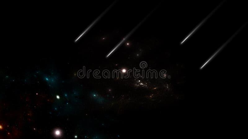 Planeter och galax Sciencetapet royaltyfria foton