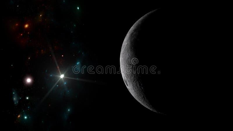 Planeter och galax Sciencetapet royaltyfria bilder