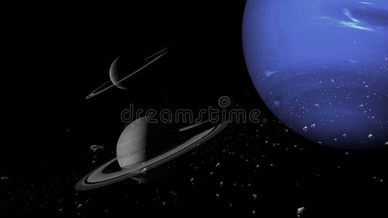 Planeter och galax, sciencetapet Sk?nhet av djupt utrymme Miljarder av galaxen i den kosmiska konstbakgrunden f?r universum, Ver royaltyfria foton