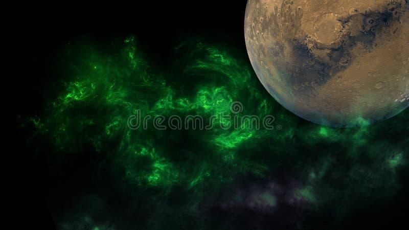 Planeter och galax, sciencetapet Sk?nhet av djupt utrymme Miljarder av galaxen i den kosmiska konstbakgrunden f?r universum, Ver arkivfoton