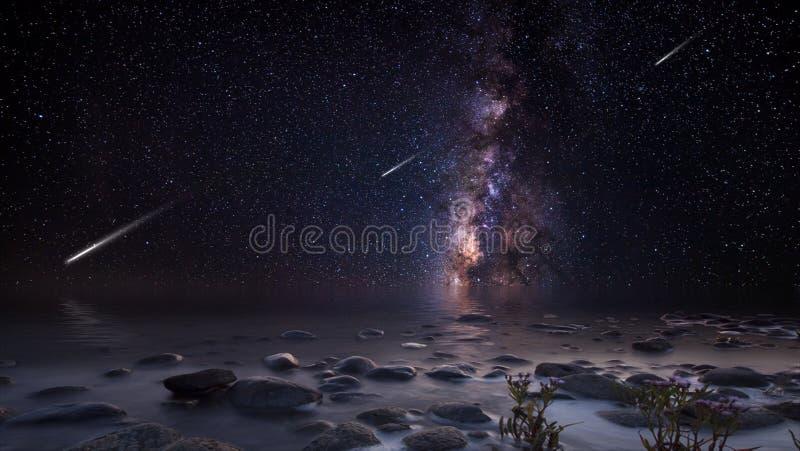 Planeter och galaxer, sciencetapet Skönhet av djupt utrymme royaltyfri bild