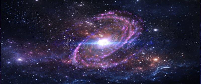 Planeter och galaxer, sciencetapet Skönhet av djupt utrymme arkivfoto