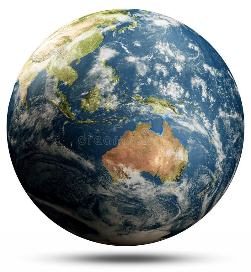 Planetjord - Australien och Oceanien, Stilla havet stock illustrationer