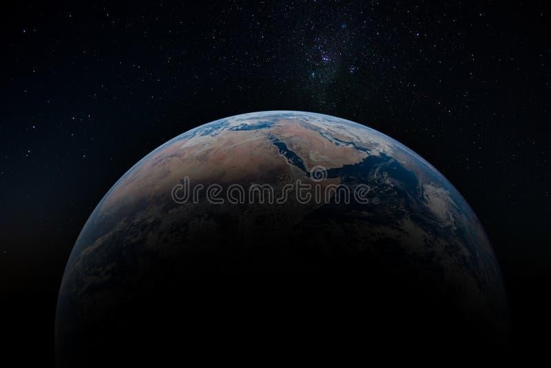 Planetjord från omlopp royaltyfri bild