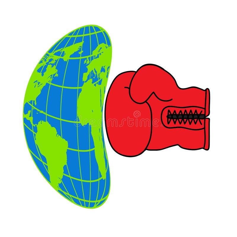 Planetjord, miljöbelastning, miljö- katastrof, ekologisymboler vektor illustrationer