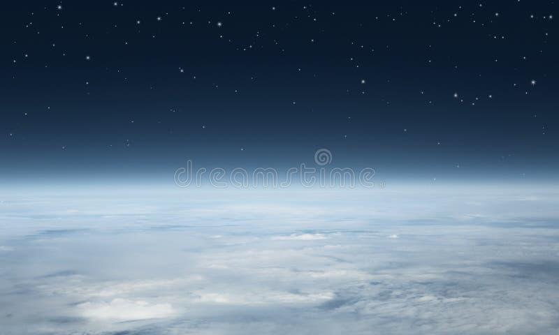Planetjord som ses från över fotografering för bildbyråer