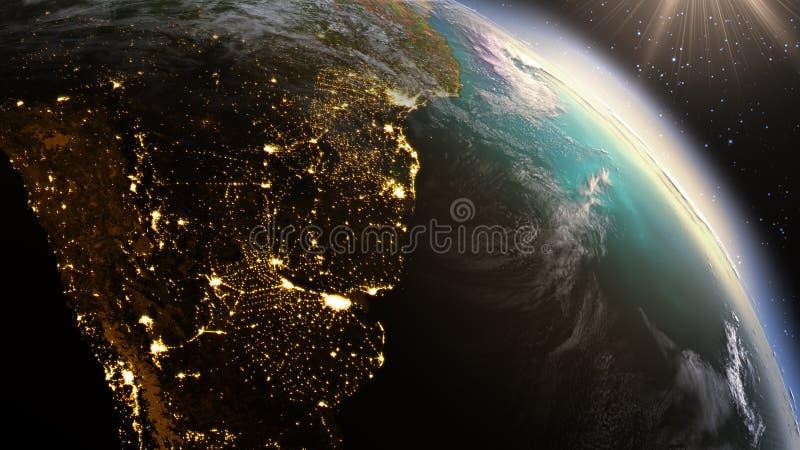 PlanetjordSydamerika zon beståndsdel genom att använda NASA för satellit- bildspråk