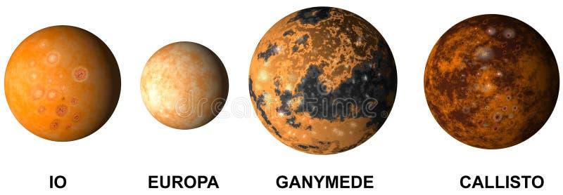 Planetjupiters Monde lizenzfreie abbildung