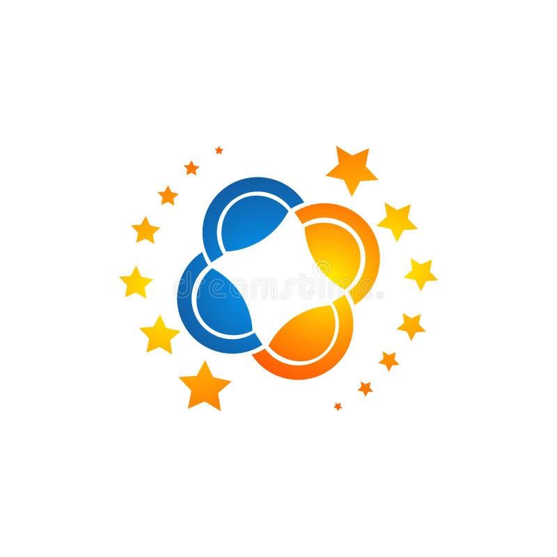 Planetlogo Omloppvektor och satellitlogo kosmoslogo Mest bra logo för planet Planetbegreppslogo Planetrengöringsduklogo royaltyfri illustrationer