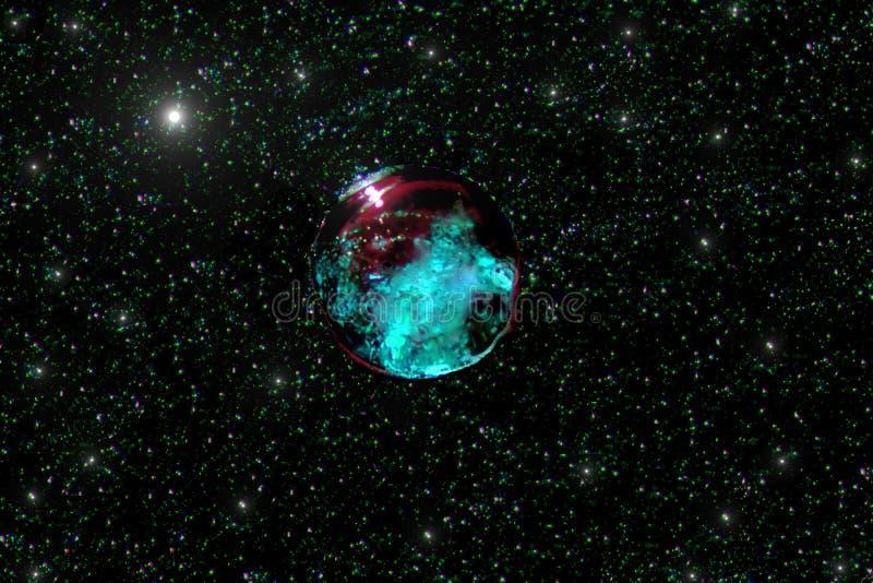 Planetmanet - färger: svarta, purpurfärgade och azura blått royaltyfri illustrationer