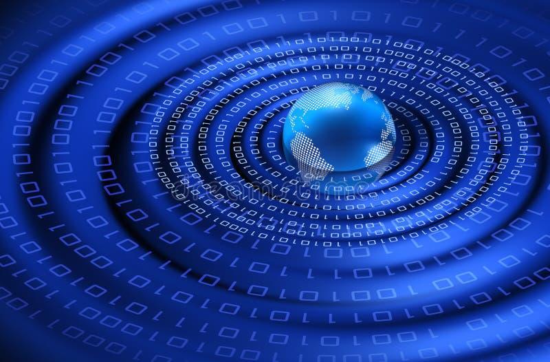 planetpulsar för digital information vektor illustrationer