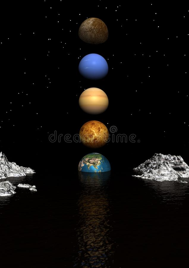 Download Planets stock illustration. Image of galactic, sphere - 16434559