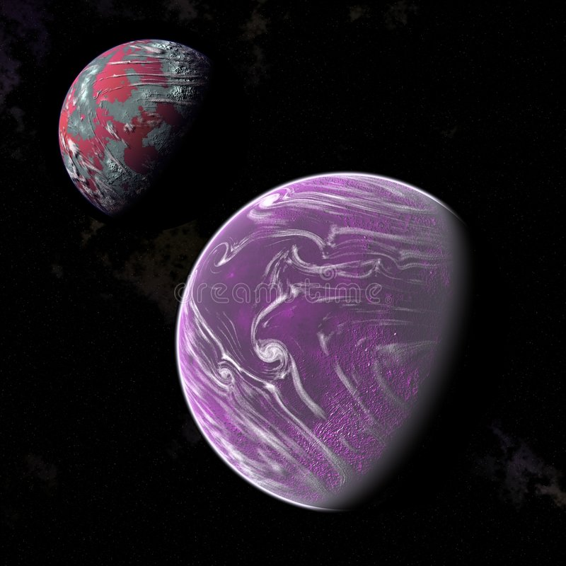 Download Planets stock illustration. Image of gravitational, continent - 3566644
