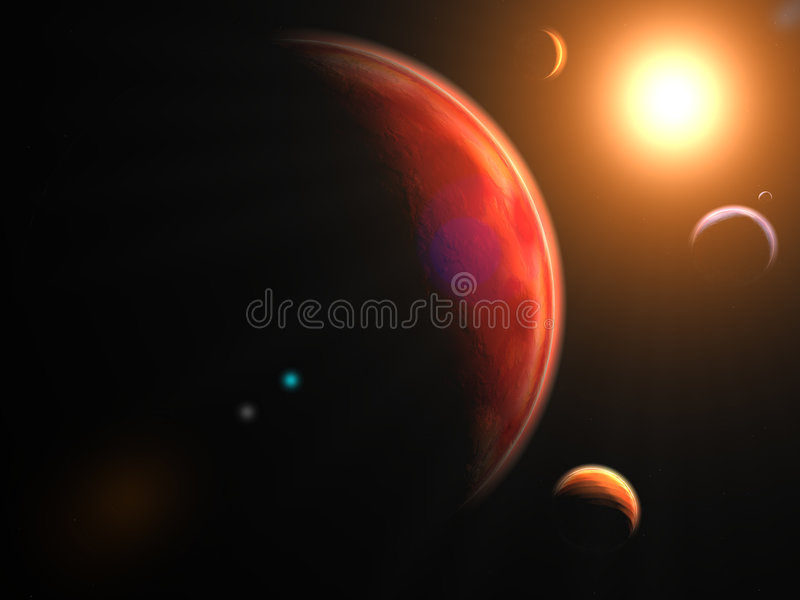Planets royalty free stock image