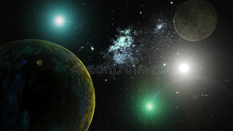 Planets in deep space. The image of planets in deep space royalty free illustration