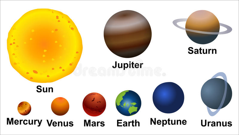 The Planets Stock Illustration - Image: 42694117