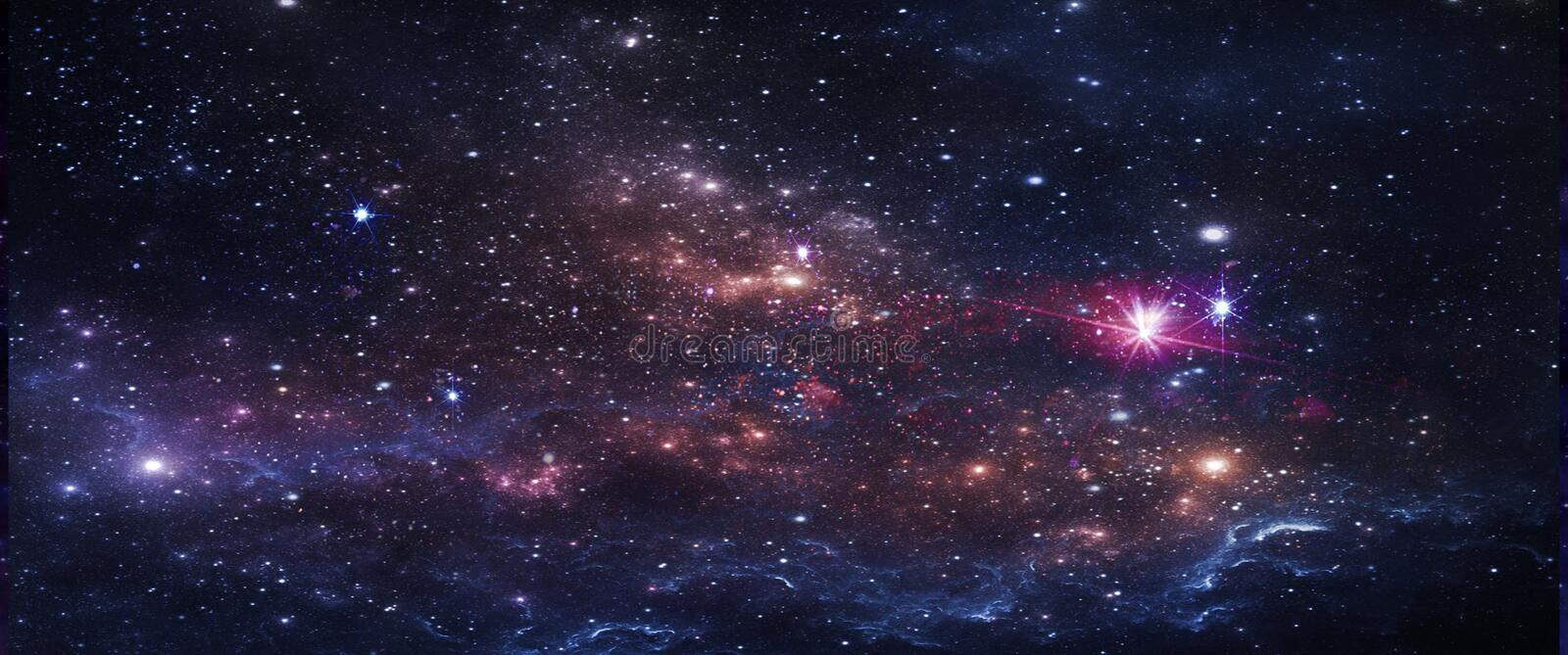 Planets and galaxies, science fiction wallpaper. Beauty of deep space. stock photo