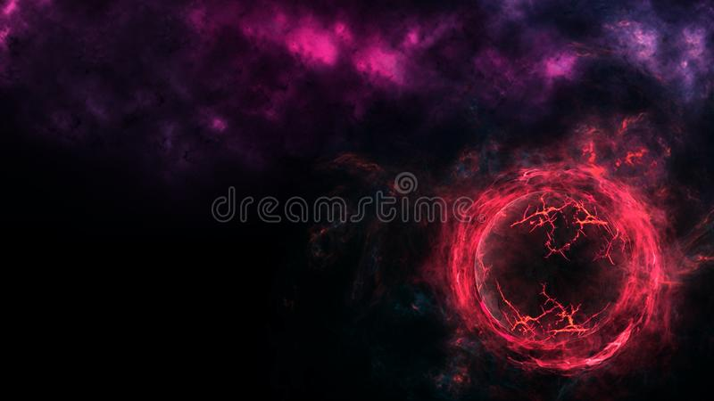 Planets and galaxy, science fiction wallpaper. Astronomy is the scientific study of the universe stars, planets, galaxies, and eve. Nt Horizon, Singularity stock image