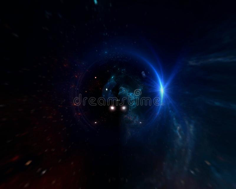 Planets and galaxy, science fiction wallpaper. Astronomy is the scientific study of the universe stars, planets, galaxies, and eve royalty free stock images