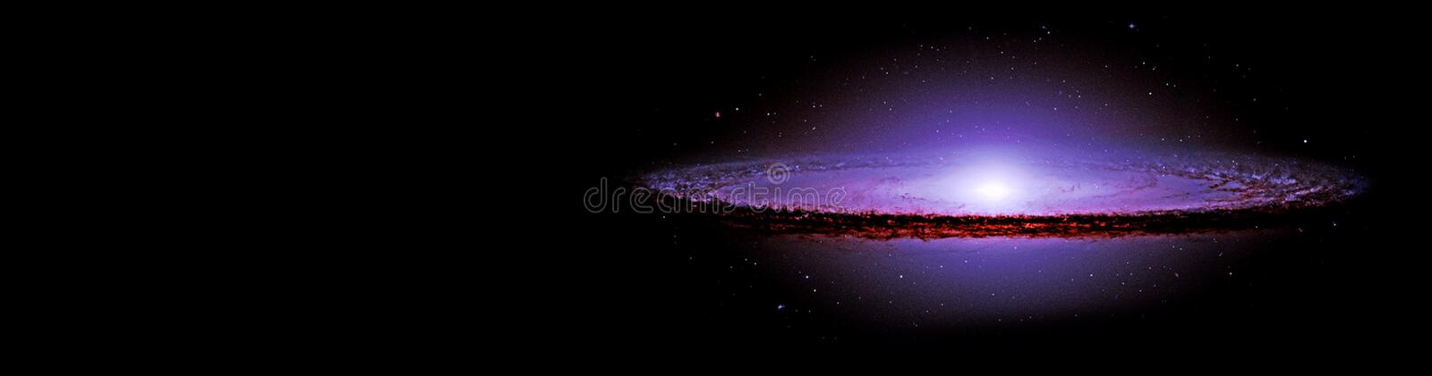 Planets and galaxy, science fiction wallpaper. stock photography