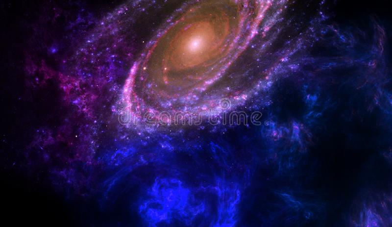 Planets and galaxy, science fiction wallpaper. Beauty of deep space. Planets and galaxy, cosmos, physical cosmology, science fiction wallpaper. Beauty of deep royalty free stock image