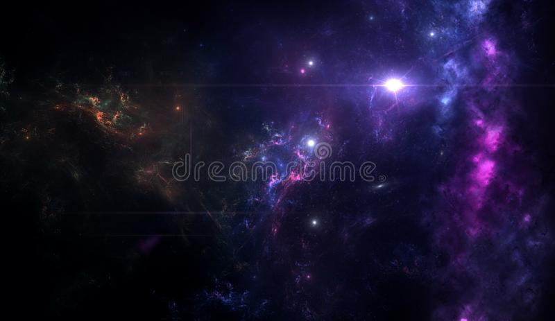 Planets and galaxy, science fiction wallpaper. Beauty of deep space. Planets and galaxy, cosmos, physical cosmology, science fiction wallpaper. Beauty of deep stock photo