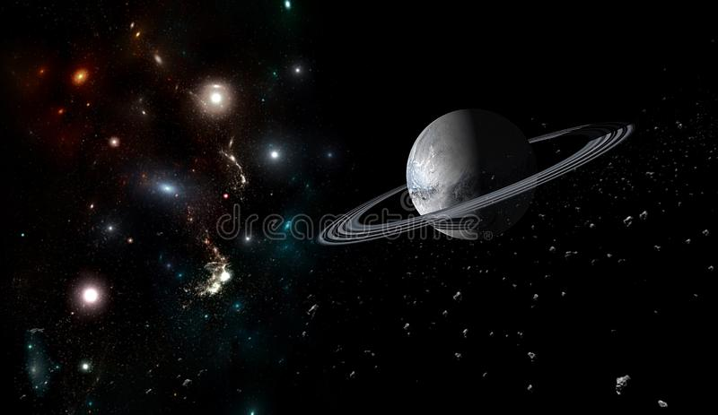 Planets and galaxy, science fiction wallpaper. Beauty of deep space. Planets and galaxy, cosmos, physical cosmology, science fiction wallpaper. Beauty of deep stock photos