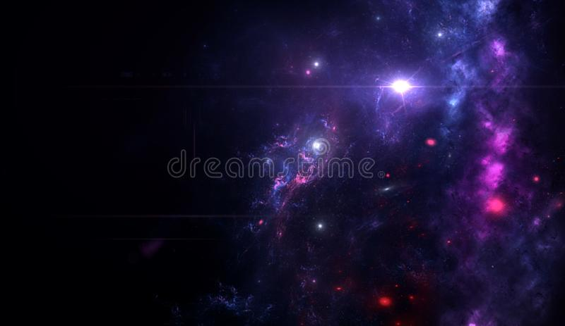 Planets and galaxy, science fiction wallpaper. Beauty of deep space. Planets and galaxy, cosmos, physical cosmology, science fiction wallpaper. Beauty of deep royalty free stock photo