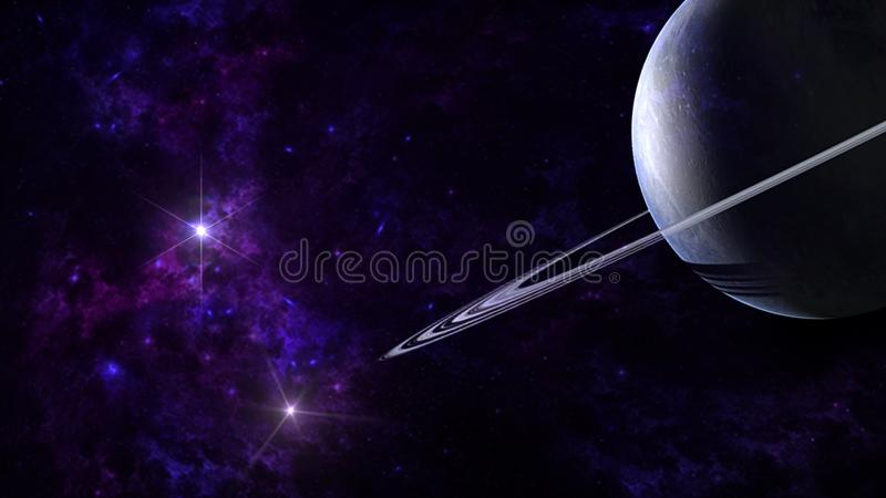 Planets and galaxy, science fiction wallpaper. Beauty of deep space. stock photo