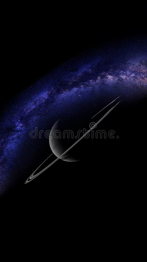 Planets and galaxy, science fiction wallpaper. Beauty of deep space. Universe all existing matter and space considered as a whole the cosmos.  scene with royalty free stock images