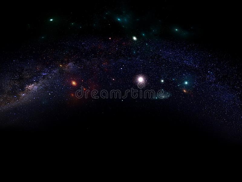 Planets and galaxy, science fiction wallpaper. Beauty of deep space. Universe all existing matter and space considered as a whole the cosmos.  scene with stock photography