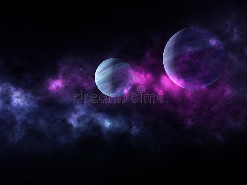 Planets and galaxy, science fiction wallpaper. Beauty of deep space. Universe all existing matter and space considered as a whole the cosmos.  scene with royalty free stock photo