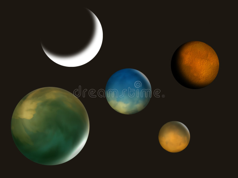Planets Illustration Royalty Free Stock Images