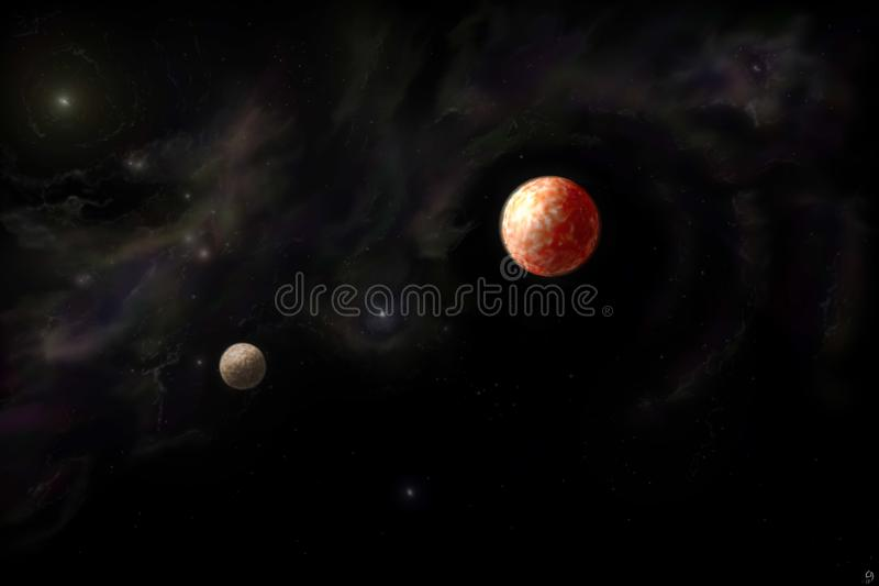 Planets and Nebula stock images