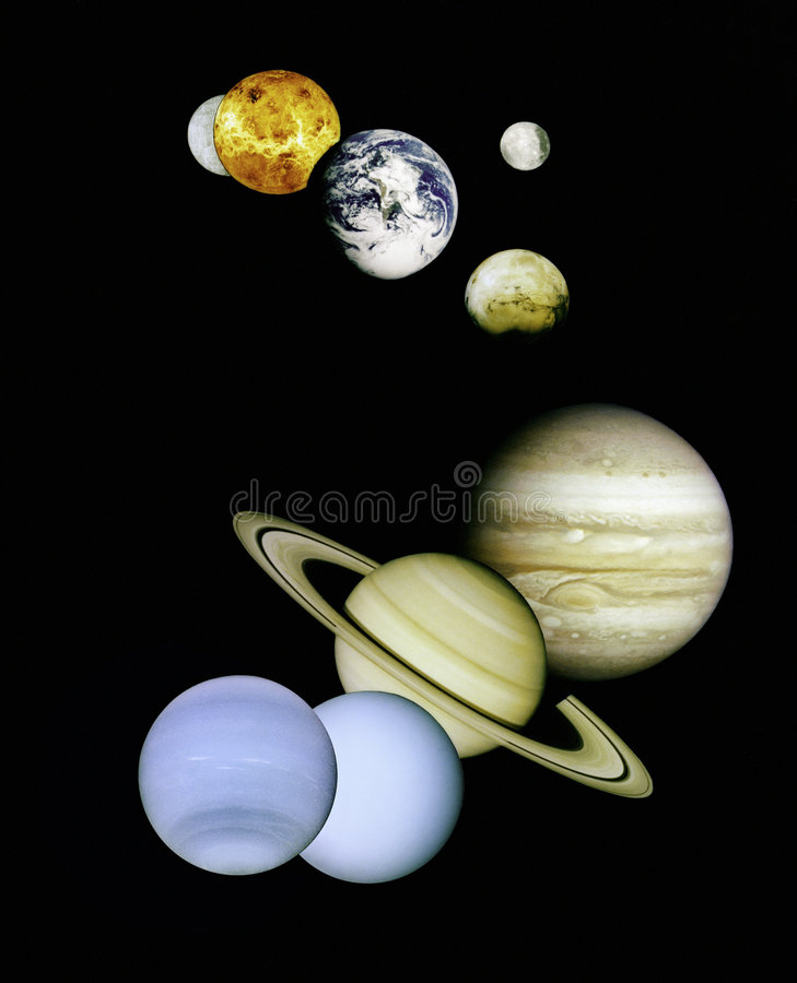 Planets in outer space. NASA image of planets in outer space stock photography