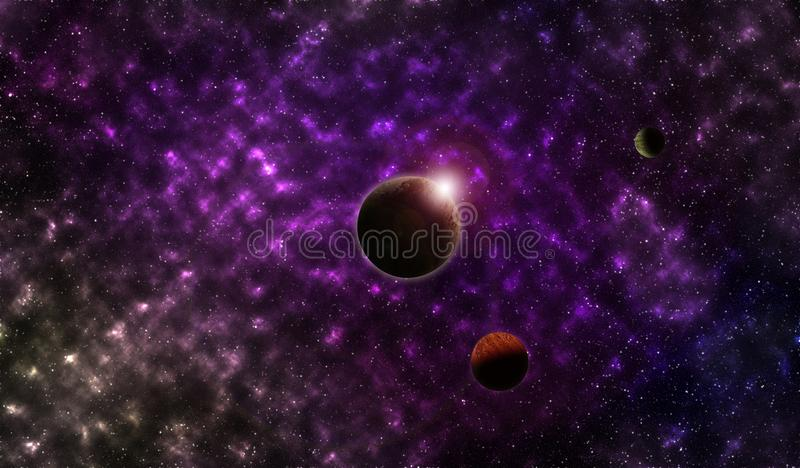 Planets in the outer space vector illustration