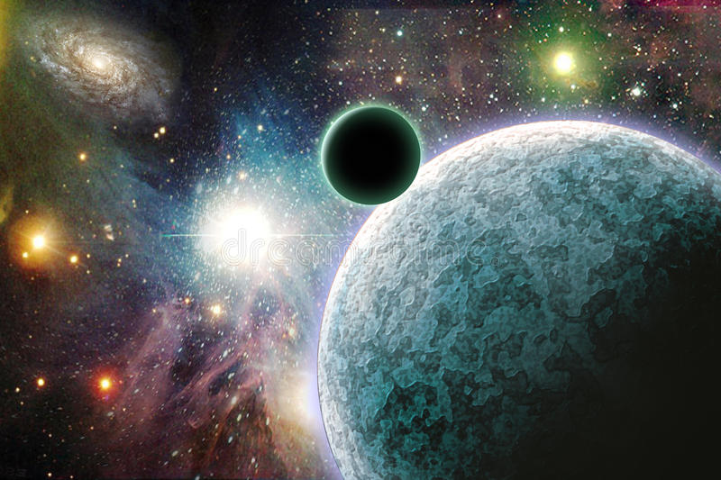 Planets in space royalty free illustration