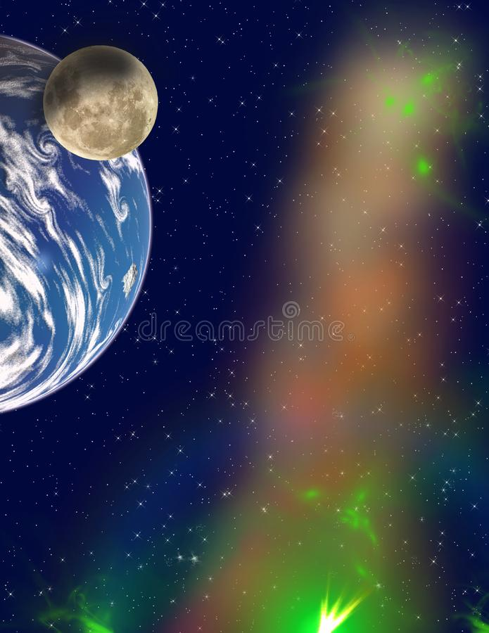 Planets in a space. stock photo