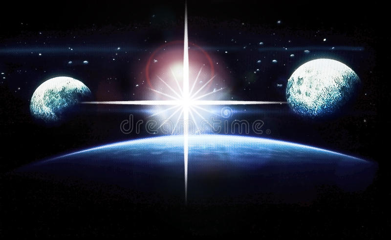 Planets and Stars Outer Space stock images