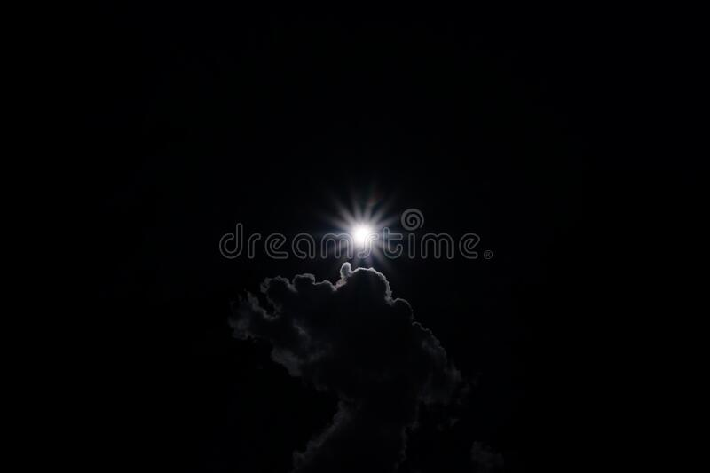 Sun rays dark. The planets world featuring Sun rays dark royalty free stock images