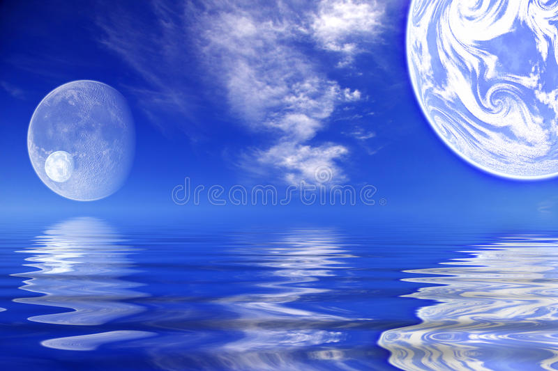 Planets / worlds water royalty free stock photography