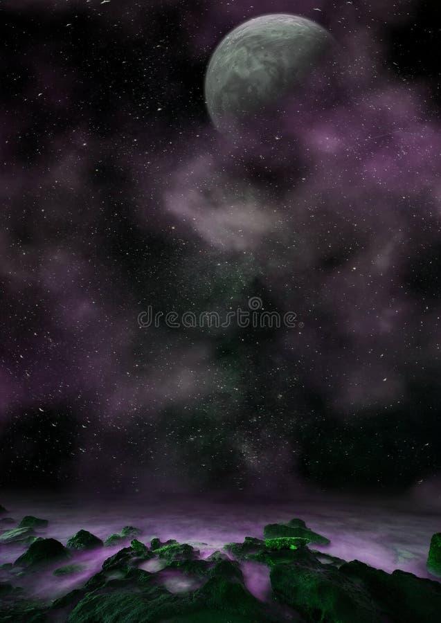Planetscape étonnant d'imagination photo libre de droits