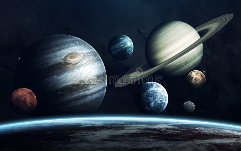 planetuje układ słoneczny Ziemia, Mars, Jupiter i inny, Elementy ten wizerunek meblujący NASA obrazy royalty free