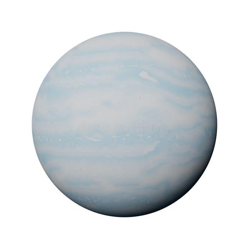 PlanetUranus som isoleras på vit bakgrund royaltyfri illustrationer