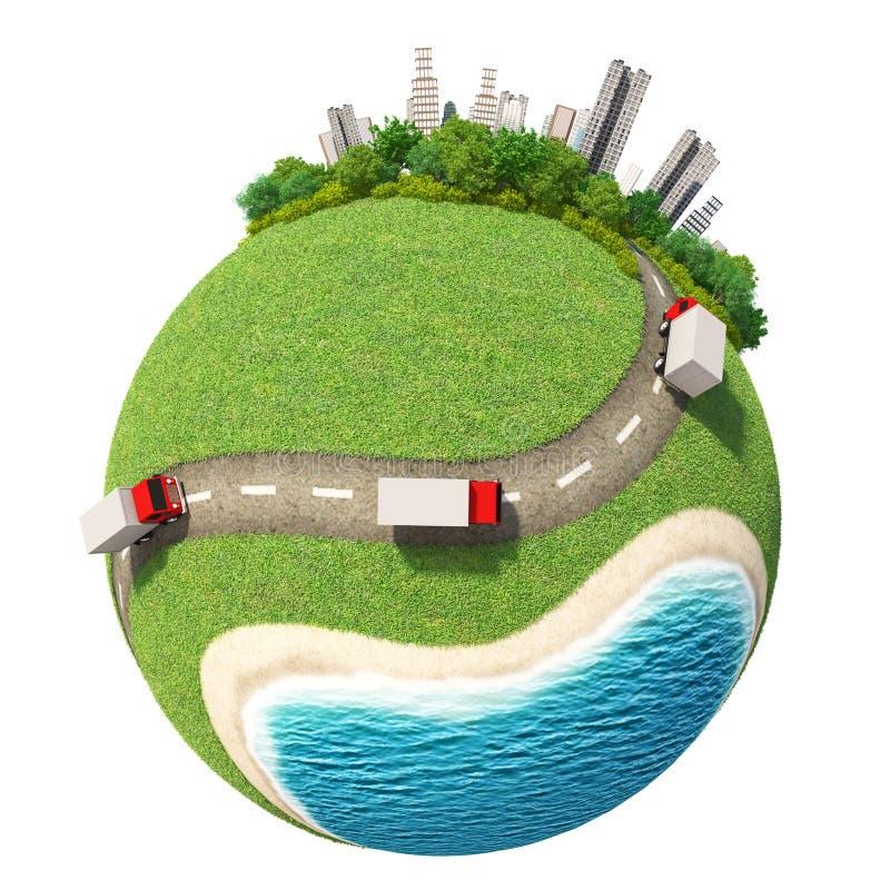 Planety 3D miasta drogi obraz royalty free