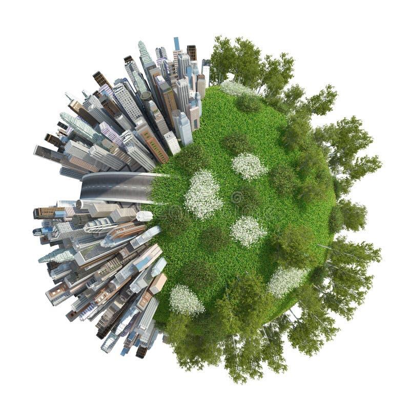 Planety 3D miasto zdjęcia stock