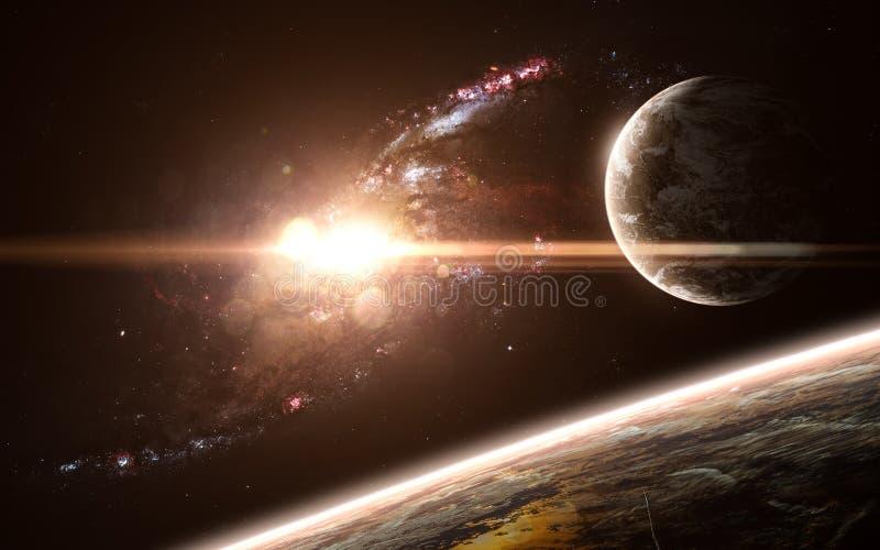 Planety, galaxy, piękny przestrzeń krajobraz Abstrakcjonistycznej nauki fikcja Elementy wizerunek meblowali NASA zdjęcie stock
