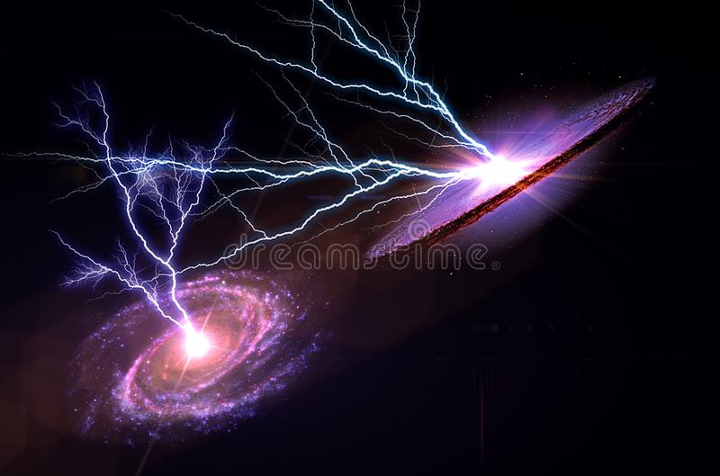 Planety, galaxy, wszech?wiat, Gwia?dzisty nocne niebo, drogi mlecznej galaxy z gwiazdami i astronautyczny py? w wszech?wiacie, D? zdjęcie stock