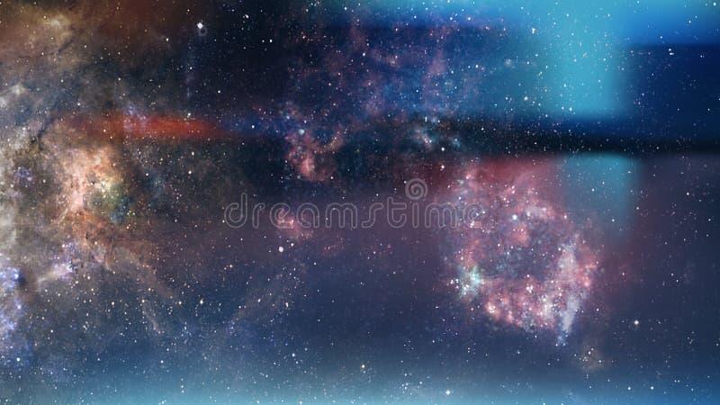 Planety i galaktyki, tapeta science fiction Astronomia jest naukowym badaniem gwiazd wszechświata, planet, galaktyk i wiosenki zdjęcie royalty free
